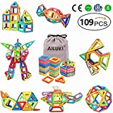 Magnetic Blocks,Ailuki 109 Pcs 3D Magnetic Building Blocks Set Magnet Tiles Educational Construction Kit for Children Creative Imagination Development Magnet Toys