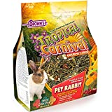 F.M. Brown's Tropical Carnival Gourmet Pet Rabbit Food with High-Fiber Timothy and Alfalfa Hay Pellets, Probiotics for Digestive Health, Vitamin-Nutrient Fortified Daily Diet, 10lb