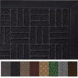 Gorilla Grip Original Durable Rubber Door Mat (29 x 17) Heavy Duty Doormat, Indoor Outdoor, Waterproof, Easy Clean, Low-Profile Mats for Entry, Garage, Patio, High Traffic Areas (Black Maze)