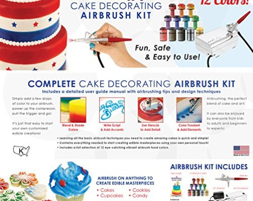 Top 10 Best Airbrush Food Coloring For Cake Decorating - Best of ...