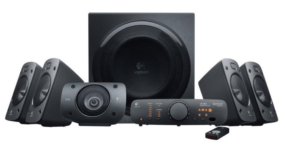 Logitech Z906 Surround Sound Bocinas, negro