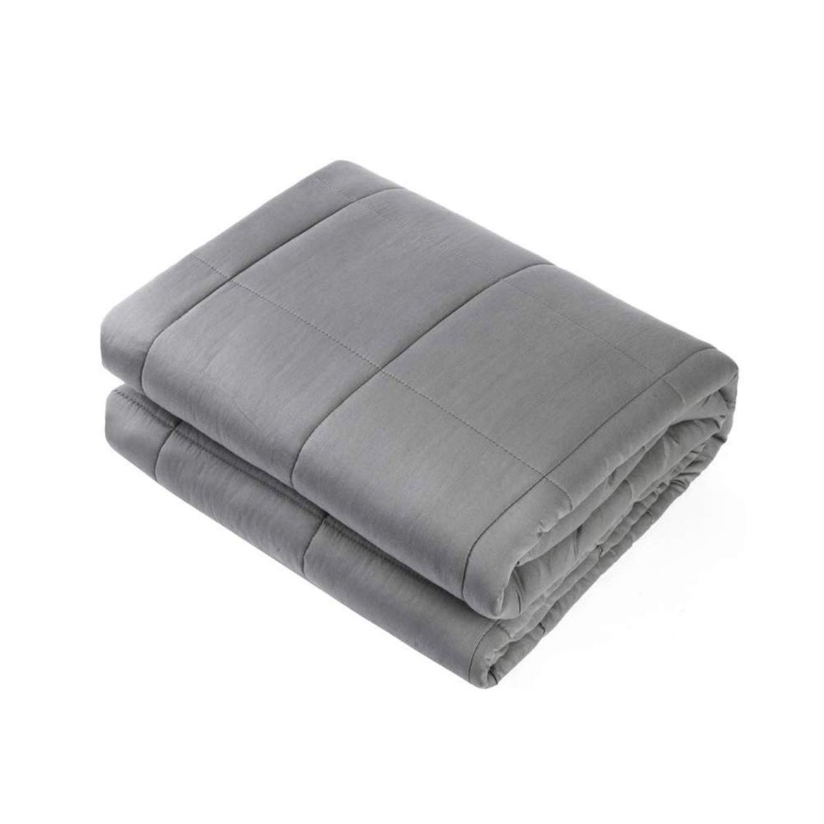 Adult Weighted Blanket Queen Size(15lbs 60'x80') Heavy Blanket with Premium Glass Beads, (Dark Grey) Waowoo
