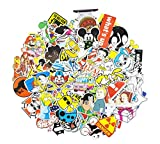 Skateboard Stickers 100 , Graffiti Vinyl Decal Stickers for Skateboard , Snowboard , Car , Laptop , Bicycle , Dirt Bike , Luggage , Kids , Motorcycle - No-Duplicate Waterproof Sticker Pack (D)