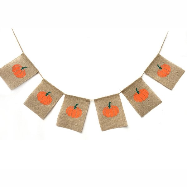 Inexpensive fall burlap banner #pumpkin #farmhousedecor #diydecor