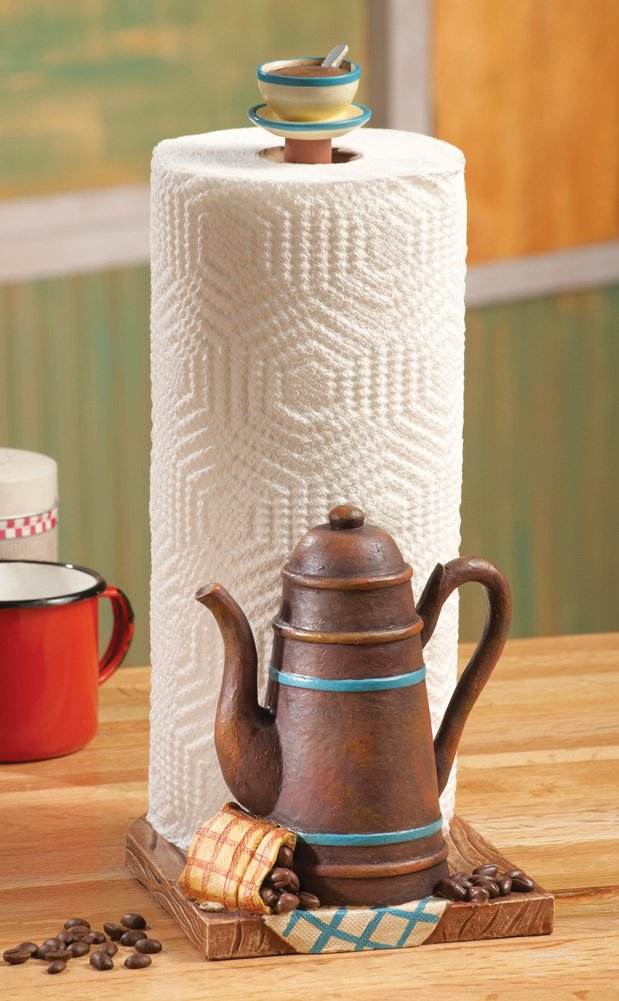 Coffee Decor for Coffee Lovers |  Coffee Pot Kitchen Paper Towel Holder