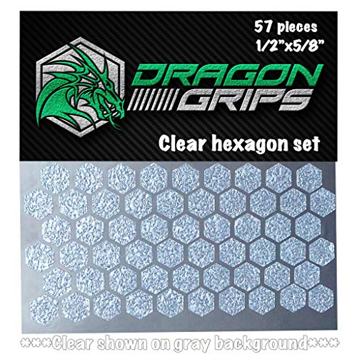 Dragon Grips Clear Hexagon Grip Tape Decal Stickers for iPhone Cell Phone Remote Control Cameras