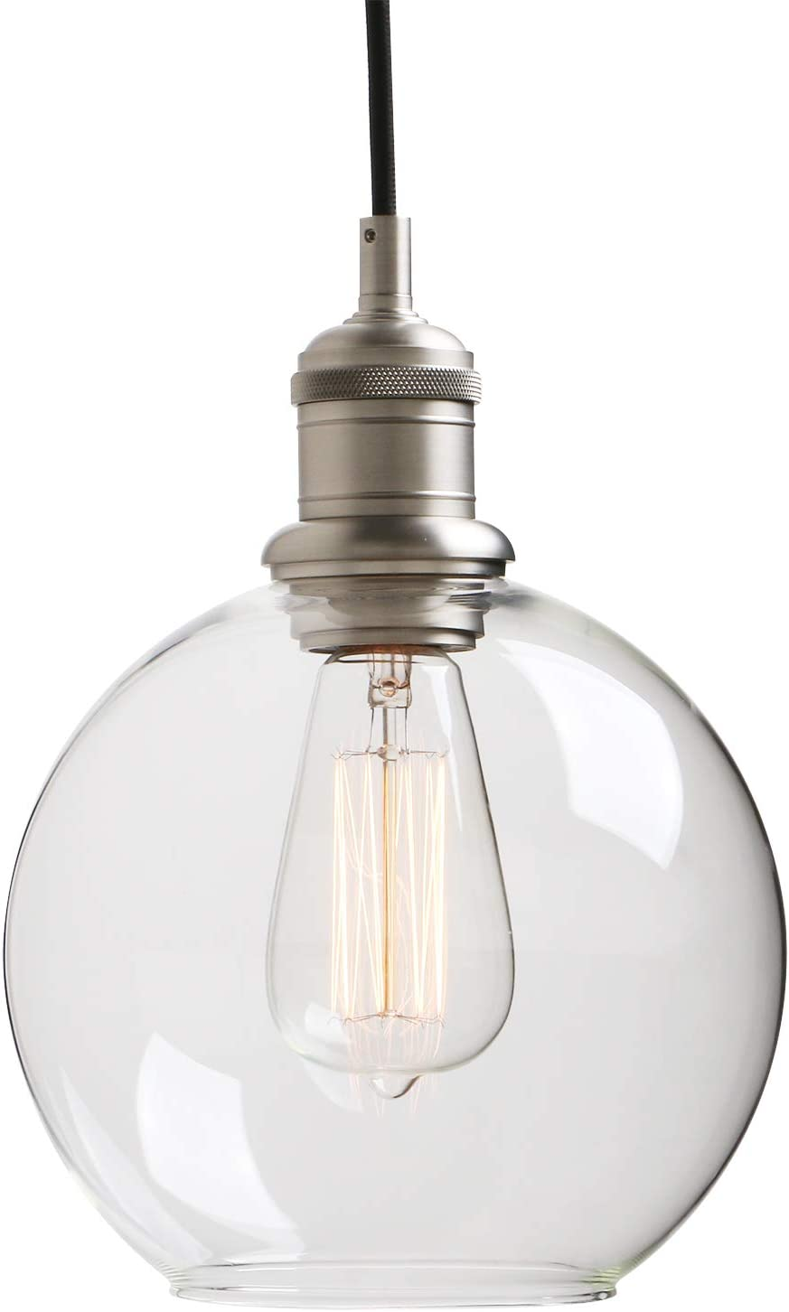 Yosoan Lighting Industrial Vintage Globe Pendant Light Fittings Loft Bar Edison Hanging Ceiling Lights Decorative Lighting For For Kitchen Island Living Room Bedroom Dining Room Brushed Amazon Co Uk Lighting