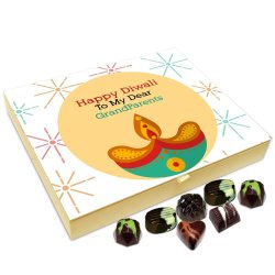 Chocholik Diwali Gift Box – Happy Diwali to My Grandparents Chocolate Box – 20pc
