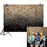 Allenjoy 7x5ft Gold Glitter Paint Backdrop for Photography Astract Sparkly Sequin Bokeh Spot Star Sky Wedding Adult Children Baby New Year Graduation Party Decor Portrait Shooting Photo Studio Booth