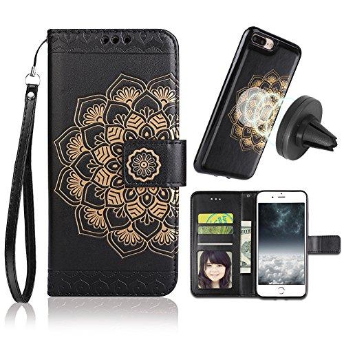 official photos 4f76f 8e7c0 iPhone 8 Plus Case,iPhone 7 Plus Flip Embossed Leather Wallet Cases ...