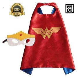 FAJ Child Superhero or Princess Cape and Mask