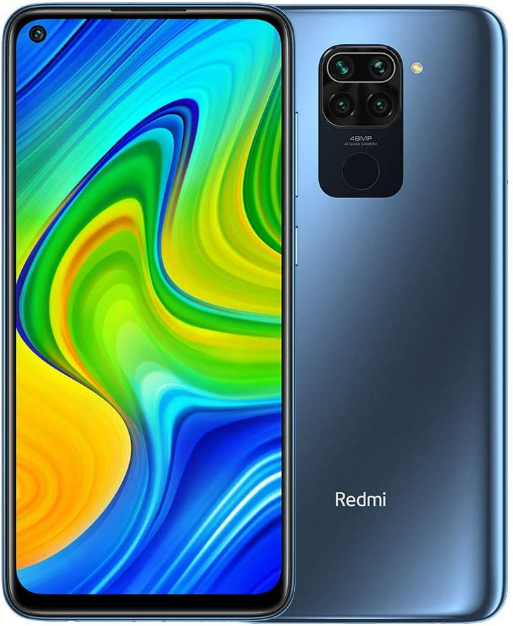 "Xiaomi Redmi Note 9 Smartphone- RAM 4GB ROM 128GB 6.53 ""FHD + DotDisplay 48MP Quad Caméra Hotshot 3.5mm Headphone Jack 5020 mAh NFC Gris"