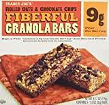 2 Boxes Trader Joe's Fiberful Granola Bars Rolled Oats & Chocolate Chips 9 g Fiber