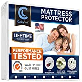 Premium Mattress Protector Cover by CushyBeds - Lab Tested 100% Waterproof, Hypoallergenic, Breathable Cool Flow, Noiseless, No Crinkling, Allergy & Vinyl Free - Full Size Bed (Up to 18' Deep Pocket)