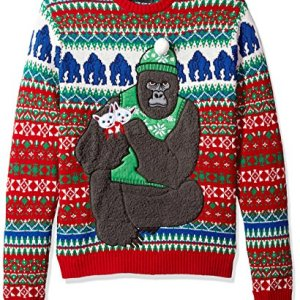 Blizzard Bay Men's Gorilla with Kittens Ugly Christmas Sweater