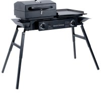 Blackstone Grills Tailgater - Portable Gas Grill and Griddle Combo - Barbecue Box - Two Open Burners - Griddle Top - Adjustable Legs - Camping Stove Great for Hunting, Fishing, Tailgating and More