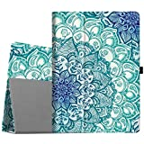 Fintie iPad Pro 12.9 Case - [Corner Protection] Premium PU Leather Folio Smart Stand Cover with Auto Sleep/Wake, Multi-Angle Viewing for iPad Pro 12.9 2nd Gen 2017 / 1st Gen 2015, Emerald Illusions