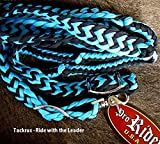 Product review for Roping Knotted Horse Tack Western Barrel Reins Nylon Braided Turquoise BLK 60701