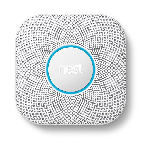 Nest Protect Smoke and Carbon Monoxide Alarm, Protect Your Home From Fire and Gas Leaks, Even When You're Away, Battery Powered (Second Generation)