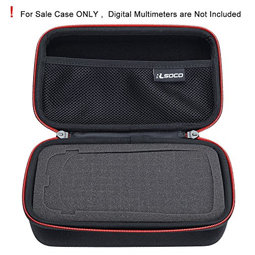 RLSOCO Carrying case for Fluke 117/115/116/114/113 Digital Multimeter and  Fluke F15B+F17B+F18B+, Fluke 87, Neoteck Pocket Digital Multimeter, Crenova