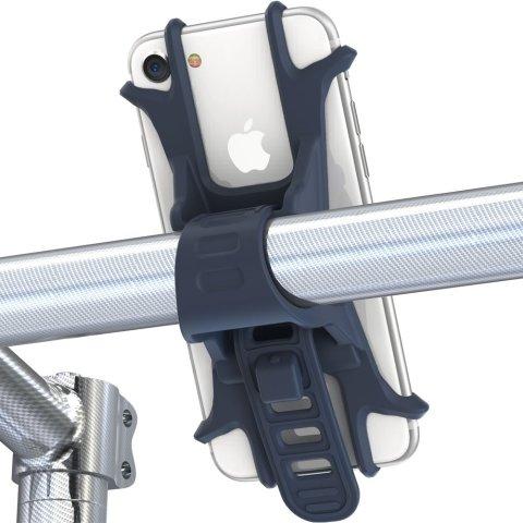 Fnova 自転車 スマホ ホルダー シリコン製 装着・脱着簡単 バイク/ベビーカーに固定用マウント GPSナビ・Android・iPhone 7 Plus まで多機種対応 脱落防止