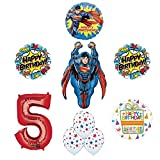 Superman 5th Birthday Party Supplies and Balloon Decorations