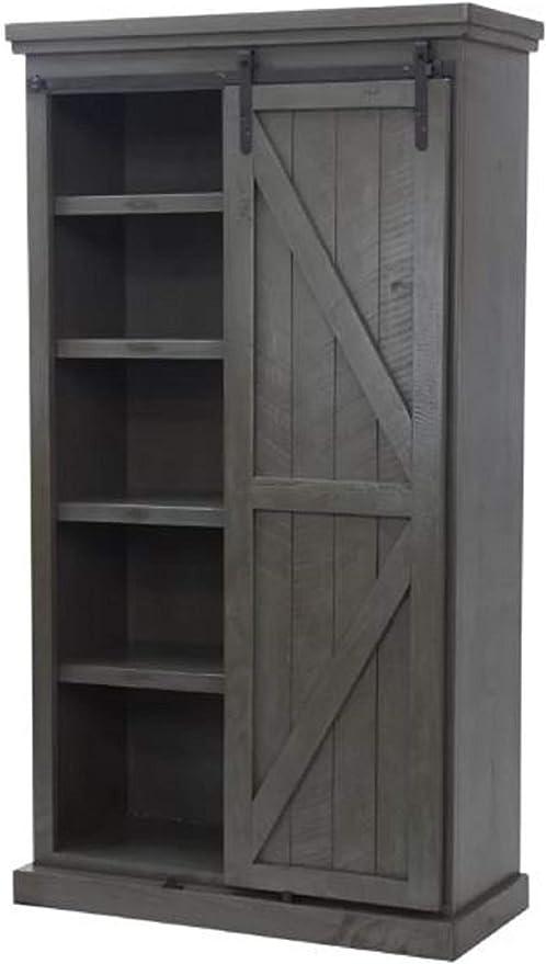 Kitchen Pantry Storage Cabinet Mihika 76 Kitchen Pantry Storage Cabinet Rustic Simplicity Style With 8 Adjustable Wood Shelves Dark Blue Amazon Ca Home Kitchen
