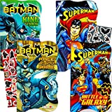 DC Comics Batman vs Superman Board Books for Toddlers - Set of 4 Books (2 Batman Books, 2 Superman Books) with Bonus Batman vs. Superman Stickers