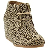 TOMS Womens Kala Fabric Closed Toe Ankle Fashion Boots, Cheetah Suede, Size 8.0