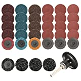 35Pcs Sanding Discs Set, 2 inch Quick Change Discs,Surface Conditioning Discs, with 1/4 inch Tray Holder, for Surface Prep Strip Grind Polish Finish Burr Rust Paint Removal, by INSMA