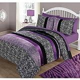 Your Zone Purple Pieced Animal Bedding Comforter Set - TWIN
