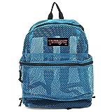 Travel Sport Transparent See Through Mesh Backpack/School Bag (Sky Blue)