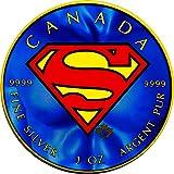 2016 CA Modern Commemorative Power Coin SUPERMAN Maple Leaf Colorized 1 Oz Silver Coin 5$ Canada 2016 BU Brilliant Uncirculated