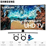 Samsung UN65NU8500 65' Class NU8500 Curved Smart 4K Ultra HD TV (2018) (UN65NU8500FXZAA) with 2x 6ft High Speed HDMI Cable + Universal Screen Cleaner for LED TVs UN65NU8500 65NU8500