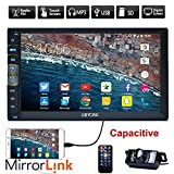 EinCar Upgarde Version 7 Inch Capacitive Touch Screen Audio (Mirror Link for GPS of Android Phone) Double 2 Din Bluetooth Car Stereo in Dash Video Auto Radio Without DVD Player+Rear View Camera