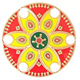 Ethnic Avenue 13 Piece Rangoli Diwali Decoration - Handmade Acrylic Home Decor Accents for Floor/Wall / Table