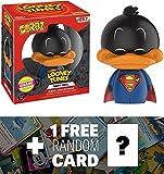 Daffy Duck (Chase Edition): Funko Dorbz x Looney Tunes Vinyl Figure + 1 FREE American Cartoon Themed Trading Card Bundle (13379)