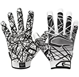 Cutters Gloves S150 Game Day Receiver Gloves, White, Medium