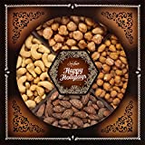 Jaybee's Holiday Nuts Gift Tray - Perfect for Holidays, Birthday, Corporate - Contains Extra Large Cashews, Smoked Almonds, Toffee & Honey Roasted Peanuts, Vegetarian Friendly and Kosher