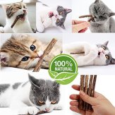 Matatabi-Cat-Catnip-Sticks-25-Pcs-or-50-pcs-Cat-Chew-Sticks-Dental-Cleaning-for-Cats-100-Organic-Silver-Vine-Dental-Treats-Molar-Chew-Toy-Olfactory-Enrichment