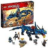 LEGO NINJAGO Masters of Spinjitzu: Stormbringer 70652 Ninja Toy Building Kit with Blue Dragon Model for Kids, Best Playset Gift for Boys (493 Piece)
