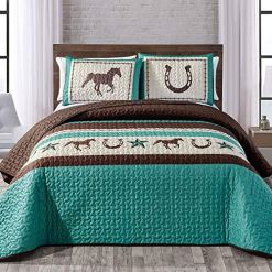 Horseshoe Teal Bedding Set
