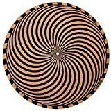 Taz Studio: Premium Turntable Slipmat - Specially designed Cork./ psychedelic geometric storm