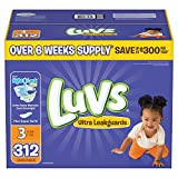 Luvs Ultra Leakguards Diapers, Size 3, 312 Count