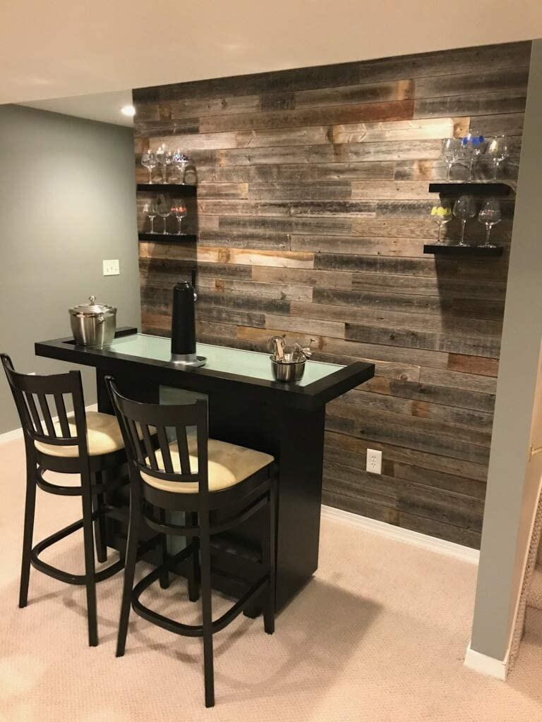 Amazon Com Real Weathered Wood Planks For Walls Rustic Reclaimed Barn Wood Paneling For Accent Walls Easy Application 3 Square Feet Garden Outdoor