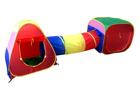 Cubby Tube Teepee Kids Play Tent And Tunnel