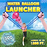 Water Balloon Launcher 3 Person Slingshot 500 Balloons with Carry Case, The Beast Heavy Duty Trebuchet Balloon Fight Cannon / Catapult For Nerf Ball,Splash Ball,T-shirts,Snowball,Potato Pumpkins