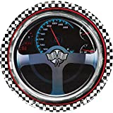 """Creative Converting 8 Count Round Paper Plates, 8.75"""", Racing"""