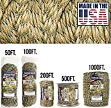 TOUGH-GRID 750lb Mixed Camo Paracord/Parachute Cord - Genuine Mil Spec Type IV 750lb Paracord Used by The US Military (MIl-C-5040-H) - 100% Nylon - Made in The USA. 500Ft. - Mixed Camo