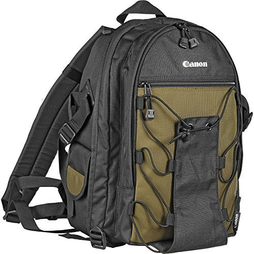 Canon Deluxe Backpack -water resistant back pack made-holds 1-2 Canon digital SLR cameras with 3-4 lenses
